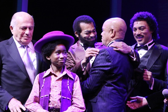'Motown' Opening Night — Doug Morris — Raymond Luke Jr. — Brandon Victor Dixon — Berry Gordy — Charl Brown
