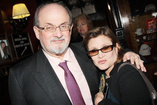 'Testament of Mary' Opening Night — Salman Rushdie — Carrie Fisher