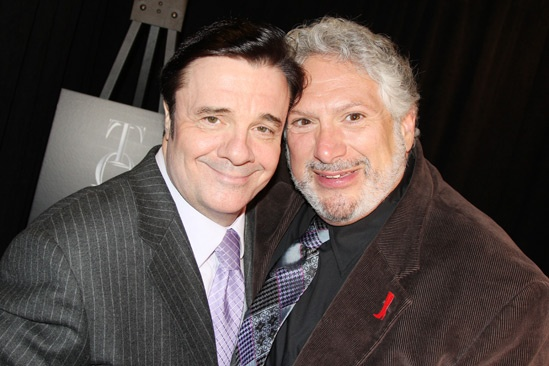 2013 Tony Nominee Brunch — Nathan Lane — Harvey Fierstein