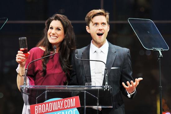 2013 Audience Choice Awards Ceremony — Stephanie J. Block — Aaron Tveit