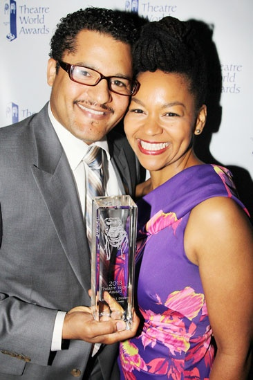 2013 Theatre World Awards — Brandon J. Dirden — Crystal A. Dickinson