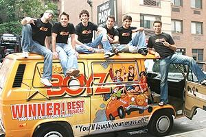 Photo Op - Altar Boyz New Van - guys on van