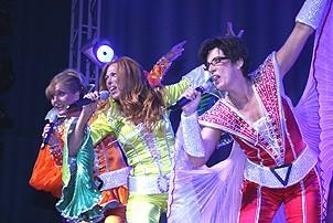 Photo Op - Mamma Mia! Fifth Anniversary - cc - Judy McLane - Carolee Carmello - Lori Haley Fox