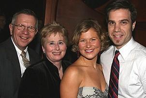 Photo Op - Mamma Mia! Fifth Anniversary - Carey Anderson - parents and (husband) Devon