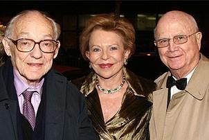 Photo Op - Chicago 10th Anniversary - James Nederlander - his wife - Gerald Schoenfeld