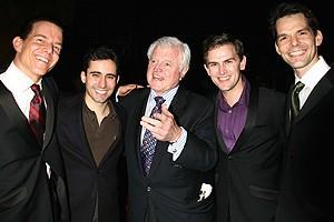 Photo Op - Ted Kennedy at Jersey Boys - Christian Hoff - John Lloyd Young - Ted Kennedy - Daniel Reichard - J. Robert Spencer - 2
