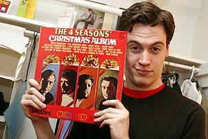 Photo Op - Jersey Boys in SF - Erich Bergen (with record album)