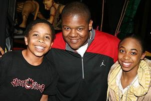 Photo Op - Kyle Massey at The Lion King - Julian Ivey - Kyle Massey - India Scandrick