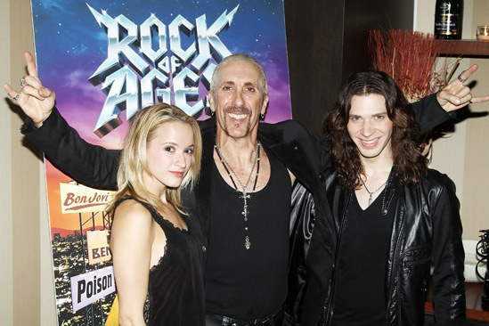Dee Snider Rock of Ages opening night – Emily Padgett – Dee Snider – Joey Taranto
