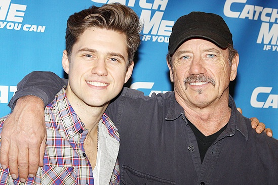 Catch Me If You Can First Rehearsal – Aaron Tveit – Tom Wopat