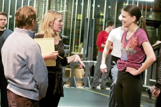 Anything Goes in Rehearsal –Rob Fisher  – Kathleen Marshall – Sutton Foster