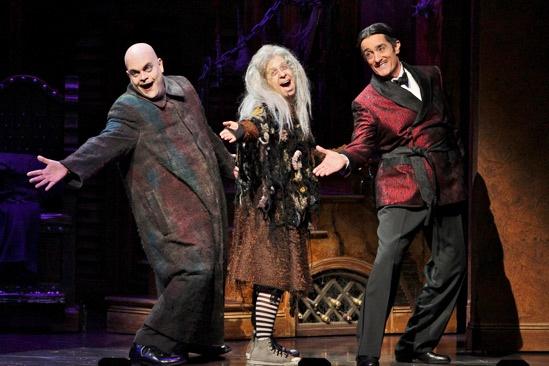 Show Photos - The Addams Family - Brad Oscar - Jackie Hoffman - Roger Rees