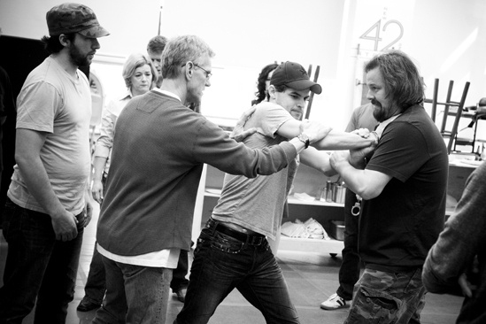 <i>Bonnie & Clyde</i> Rehearsal – Louis Hobson – Steve Rankin - Jeremy Jordan – Tad Wilson