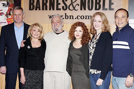 Follies- Ron Raines, Elaine Paige, Stephen Sondheim, Bernadette Peters, Jan Maxwell and Danny Burstein