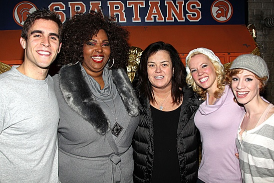 Rosie O'Donnell Visits Lysistrata Jones – Josh Segarra – Liz Mikel – Rosie O'Donnell – Patti Murin – Lindsay Nicole Chambers