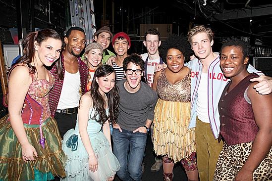Darren Criss & Justin Kirk Backstage at Godspell – Godspell Cast – Darren Criss