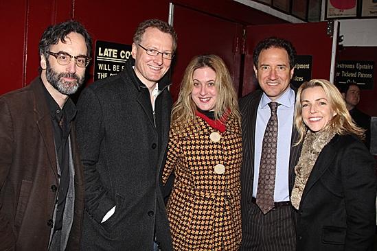 Carrie - Don McKeller Bob Martin, Lisa Lambert, producer Kevin McCollum and wife Lynette Perry McCollum