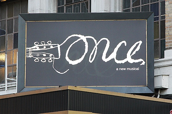 Once opening night – marquee