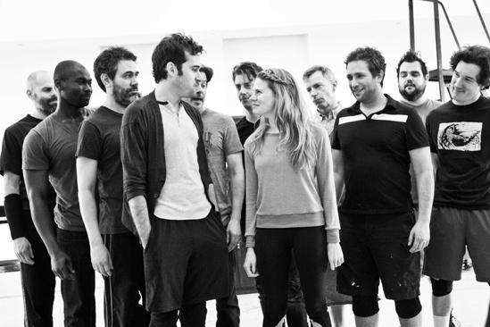 Peter and the Starcatcher Rehearsal – Adam Chanler-Berat – Celia Keenan-Bolger – The Company