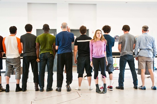 Peter and the Starcatcher Rehearsal - Celia Keenan-Bolger – The Boys' backs