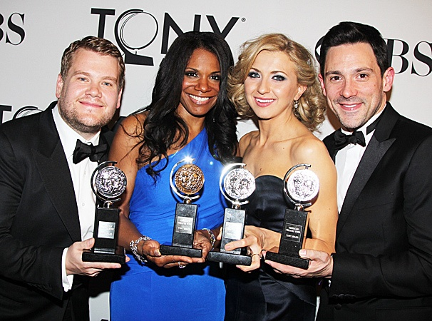 2012 Tony Awards Winner's Circle – James Corden- Audra McDonald- Nina Arianda- Steve Kazee