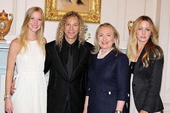 David Bryan Grand Piano to State Department – Gabrielle Bryan – David Bryan – Hillary Clinton - Lexi Bryan