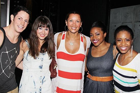 Vanessa Williams Visits Bring It On – Sheldon Tucker – Haley Hannah - Vanessa Williams – Melody Mills – Shonica Gooden