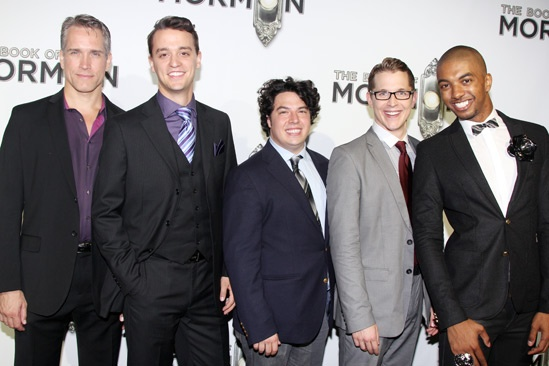 'Book of Mormon' LA Opening—Mike McGowan; Jonathan Cullen; Jon Bass; Jeffrey David Sears; Christian Dante White