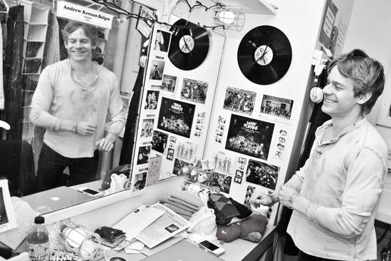 Newsies –Backstage-Andrew Keenan-Bolger