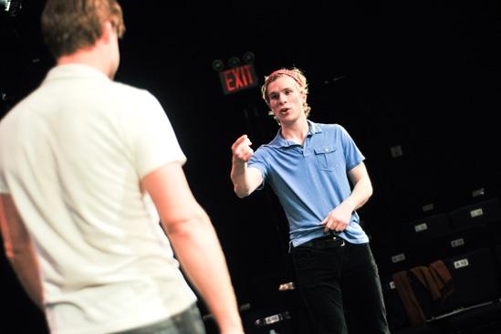 Hit the Wall Rehearsal-Nick Bailey- Sean Allan Krill