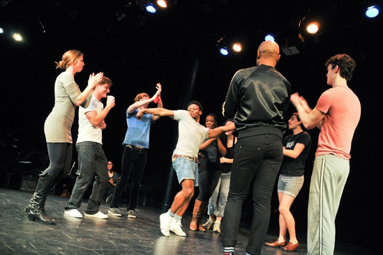 Hit the Wall Rehearsal- Gregory Haney- Cast