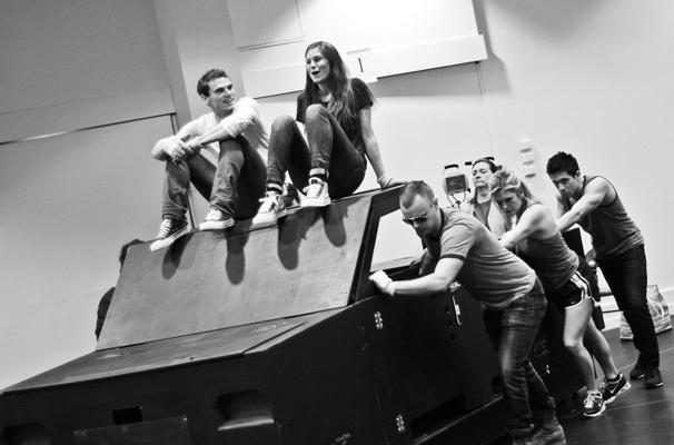 Hands on a Hardbody – Rehearsal – Jay Armstrong Johnson – Allison Case – cast