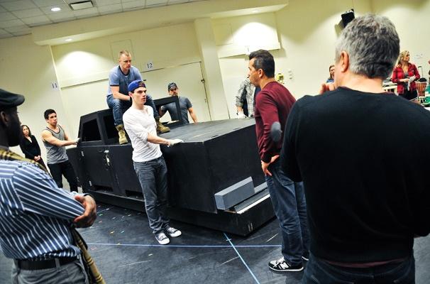 Hands on a Hardbody – Rehearsal – David Larsen - Jay Armstrong Johnson – Sergio Trujillo – Neil Pepe