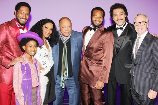 Quincy Jones at 'Motown' — Bryan Terrell Clark — Raymond Luke Jr — Valisia LeKae — Quincy Jones — Brandon Victor Dixon — Charl Brown — Tommy Hilfiger