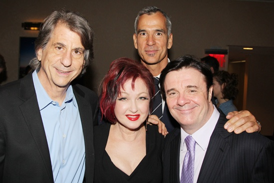 2013 Drama League Awards Luncheon — David Rockwell — Cyndi Lauper — Jerry Mitchell — Nathan Lane