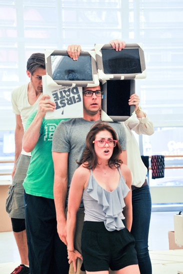 'First Date' Rehearsal — Kate Loprest — Zachary Levi