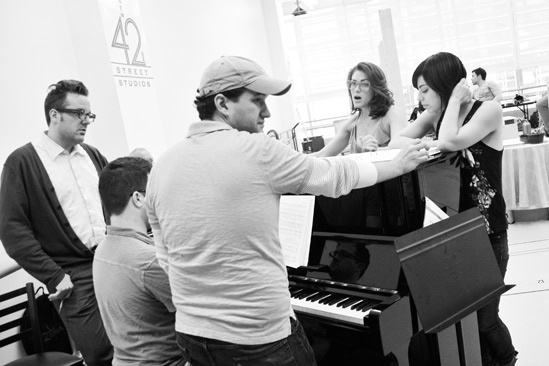 'First Date' Rehearsal — Bill Berry — Alan Zachary — Michael Weiner — Kate Loprest — Krysta Rodriguez