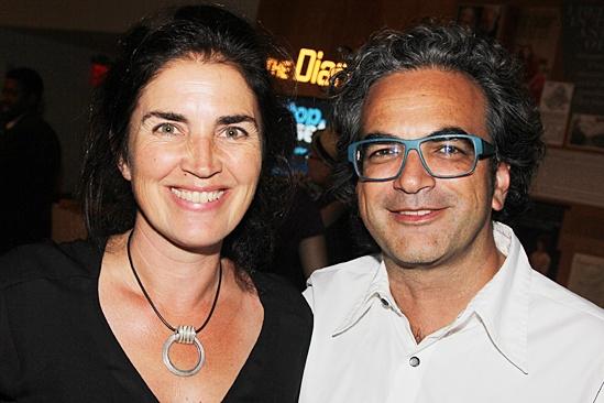 stop. reset. – opening night – wife Maria Mileaf - Neil Patel