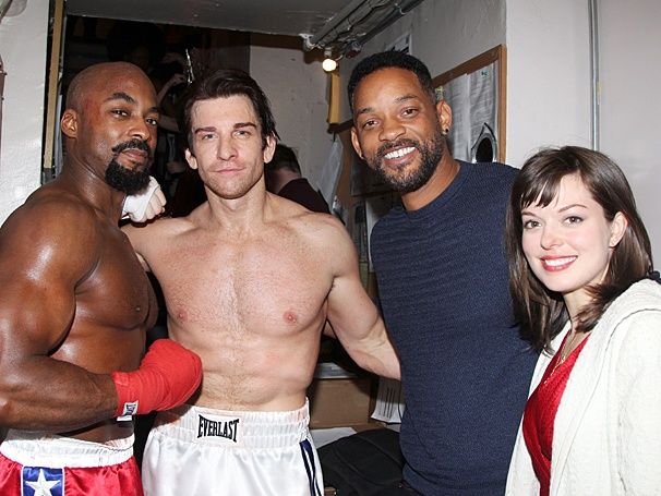 Rocky - Will Smith Backstage - OP - 3/14 - Terence Archie - Andy Karl - Will Smith - Margo Seibert