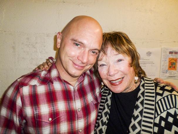 Fun Home - Backstage - 5/15 - Michael Cerveris - Shirley MacLaine