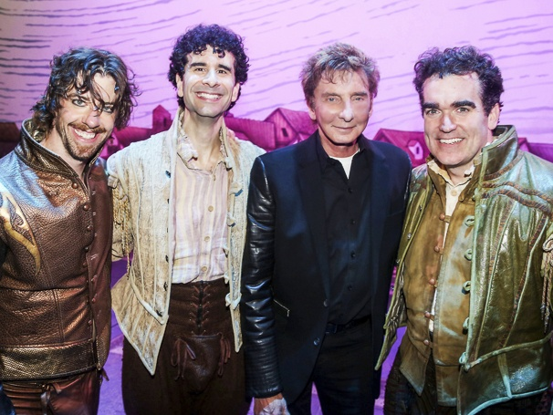 Something Rotten! - Backstage - 6/15 - Christian Borle - John Cariani - Barry Manilow - Brian d'Arcy James