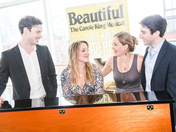 Beautiful: The Carole King Musical - Tour cast - Meet the press - 9/15 - Liam Tobin, Abby Mueller, Becky Gulsvig and Ben Fankhauser