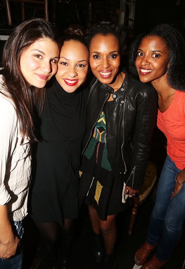 Hamilton - backstage - 9/15 -  Phillipa Soo, Jasmine Cephas Jones, Kerry Washington and Renee Elise Goldsberry