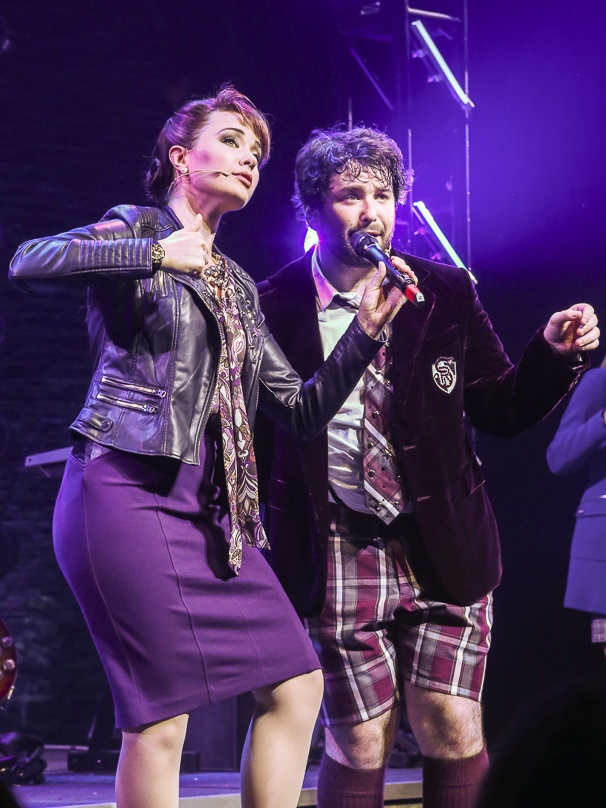 School of Rock - First Preview - Original Film Stars - Backstage - 11/15 - Sierra Boggess and Alex Brightman