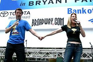 Photo Op - Broadway in Bryant Park 07-26-07 -  Lewis Cleale - Marin Mazzie
