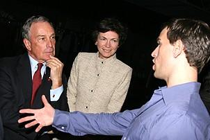 Photo Op - Mayor Bloomberg at Jersey Boys - Michael Bloomberg - Diana Taylor - Daniel Reichard