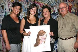 Photo Op - Ashley Brown & Gavin Lee at Sardi's - Ashley Brown - (family) - Melissa - Marsha - Jim