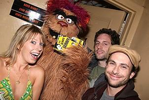 Photo Op - It's Always Sunny in Philadelphia at Avenue Q - Mary Elizabeth Ellis - Trekkie Monster -  Glenn Howerton - Charlie Day -1