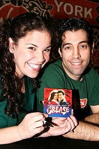 Photo Op - Grease CD signing - Lindsay Mendez - Jose Restrepo