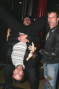 Photo Op - Fuerzabruta opening - Jon Morris - Joshua Kobak - Daniel Case (flip)